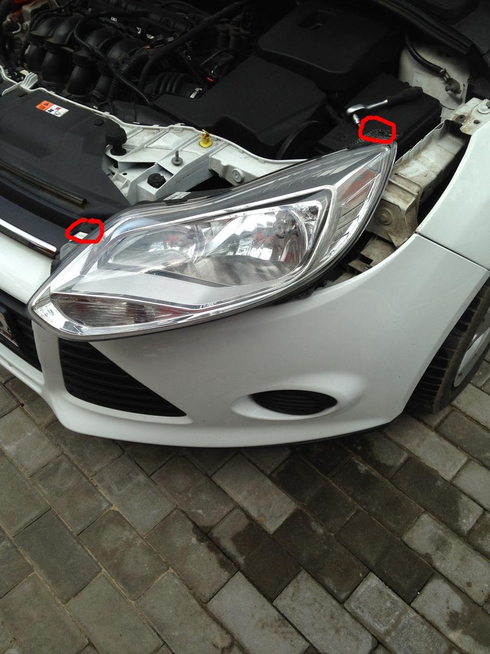 Как заменить лампочку форд фокус 3