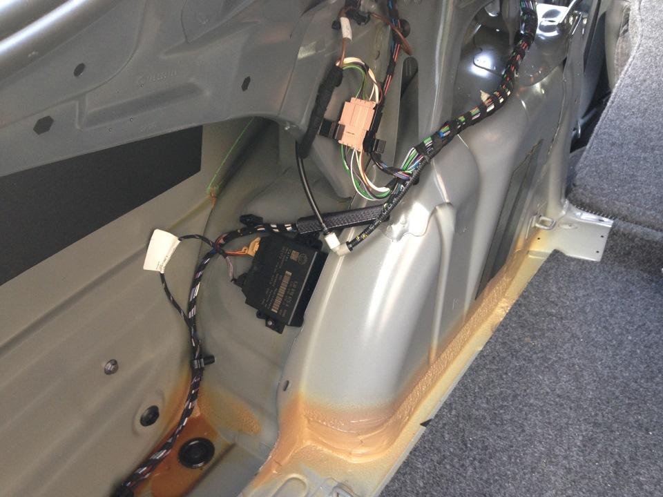 Установка парктроника на шкоду октавия а5