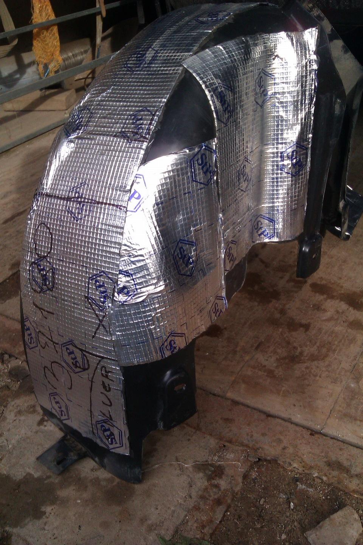Шумоизоляция колесных арок на фольксваген поло седан