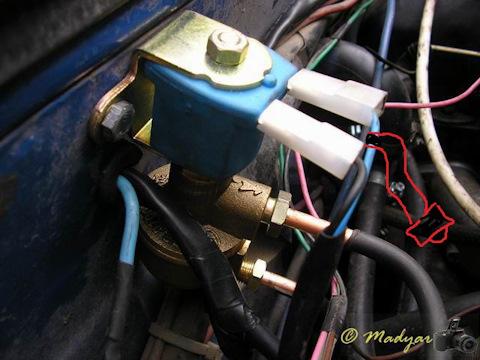 установка газового клапана