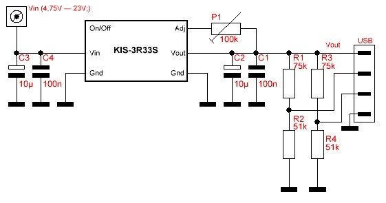 Зарядка для планшета от прикуривателя схема
