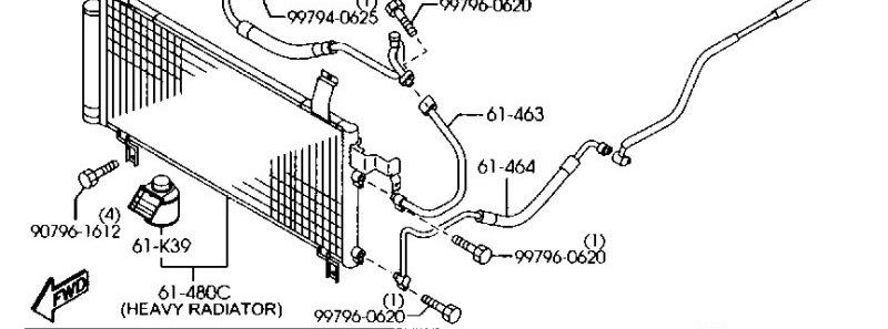 61-464 трубка кондиционера mazda
