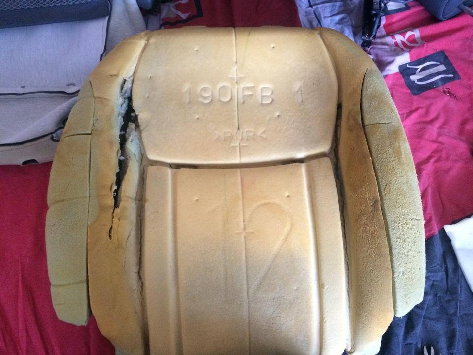 Ремонт поролона сидений автомобиля