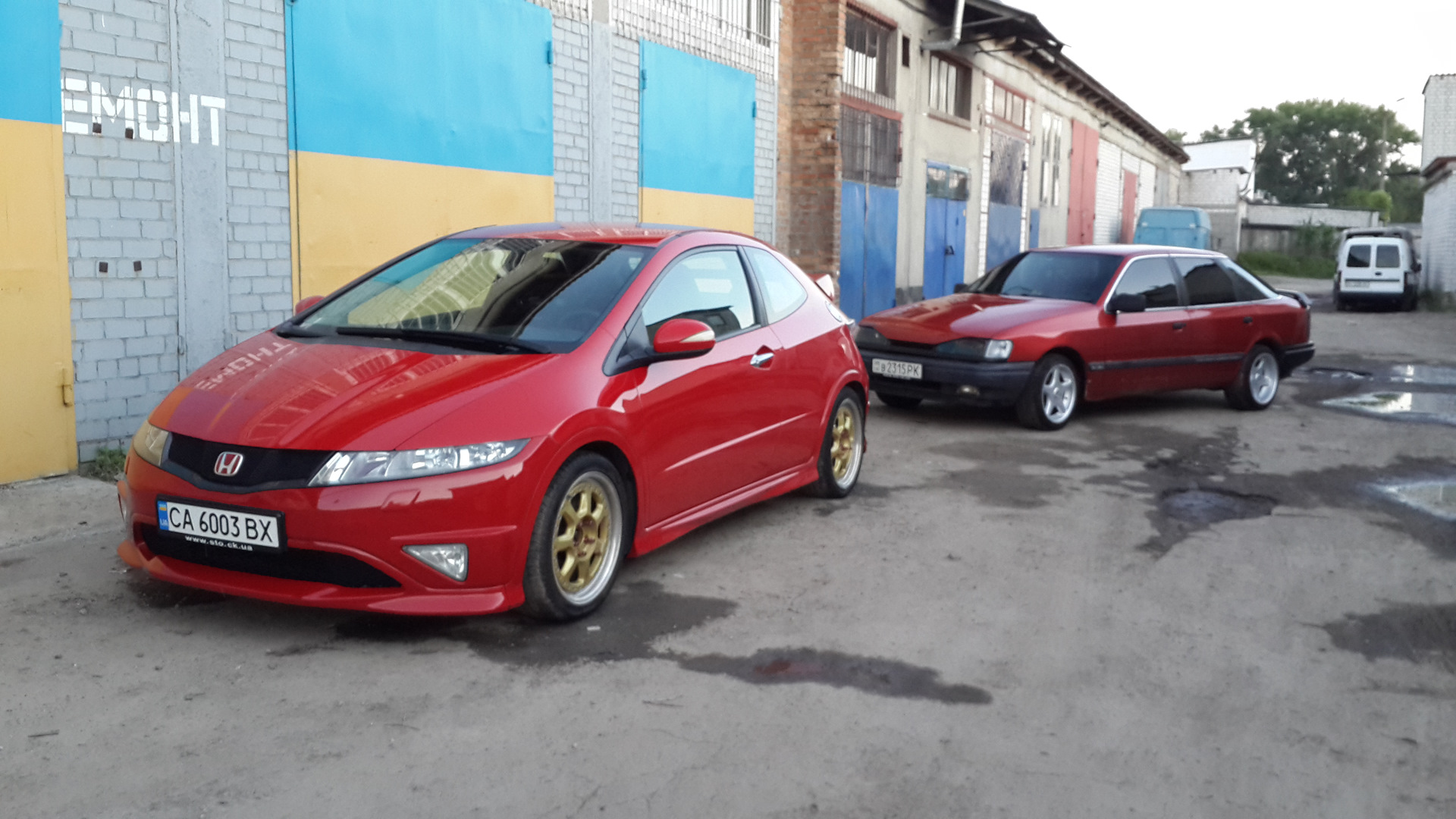 тормоза на honda civic fn2