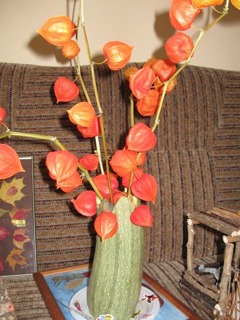 Ваза из кабачка своими руками на тему осень