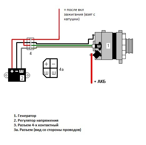 Схема генератора газ 53