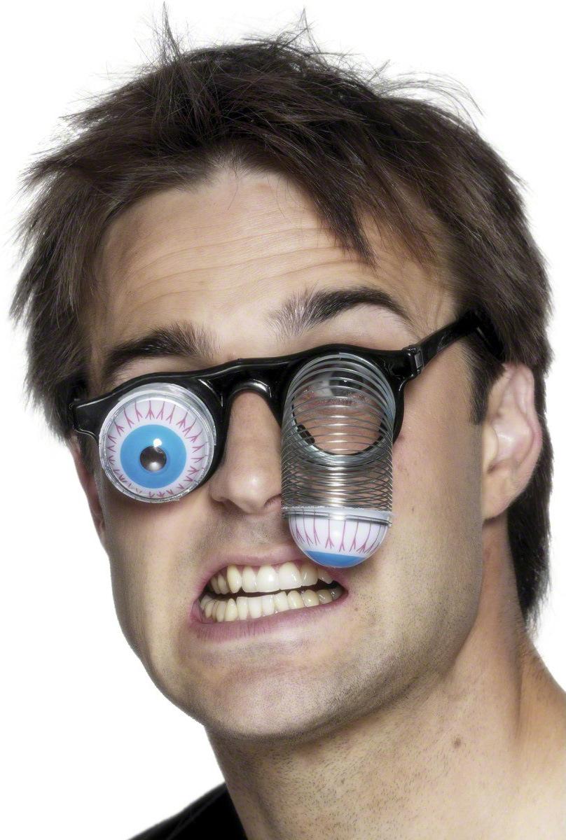 Открытка очки с глазами, ручные