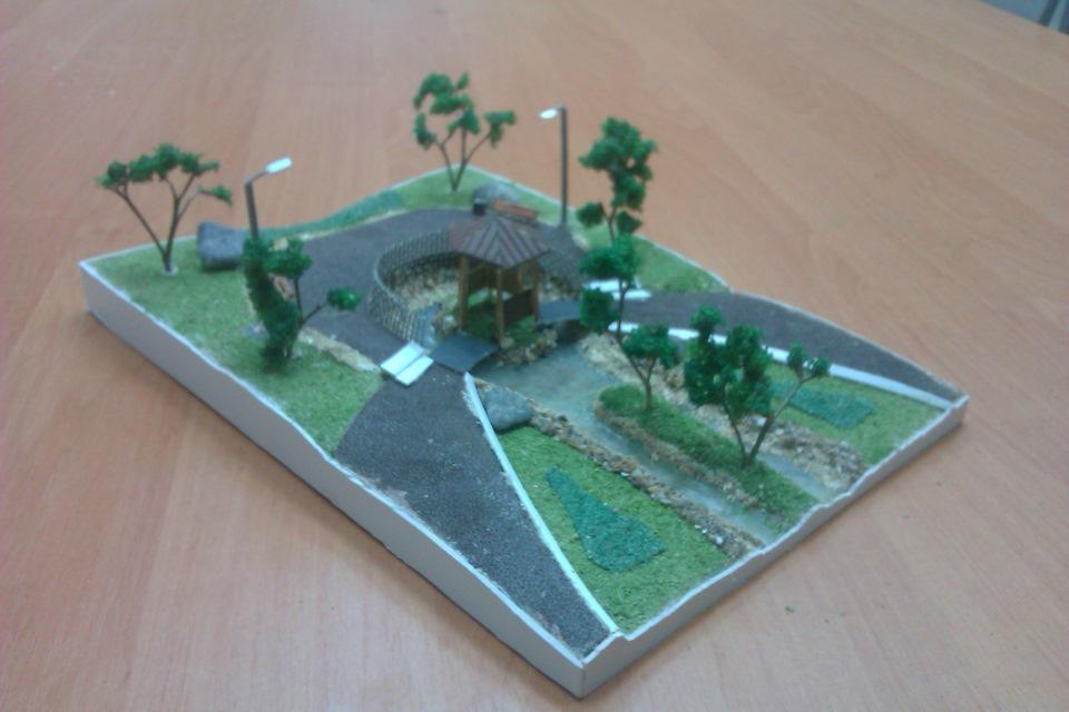 Макеты парков и скверов