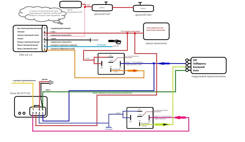Схема подключения РХО-22 и