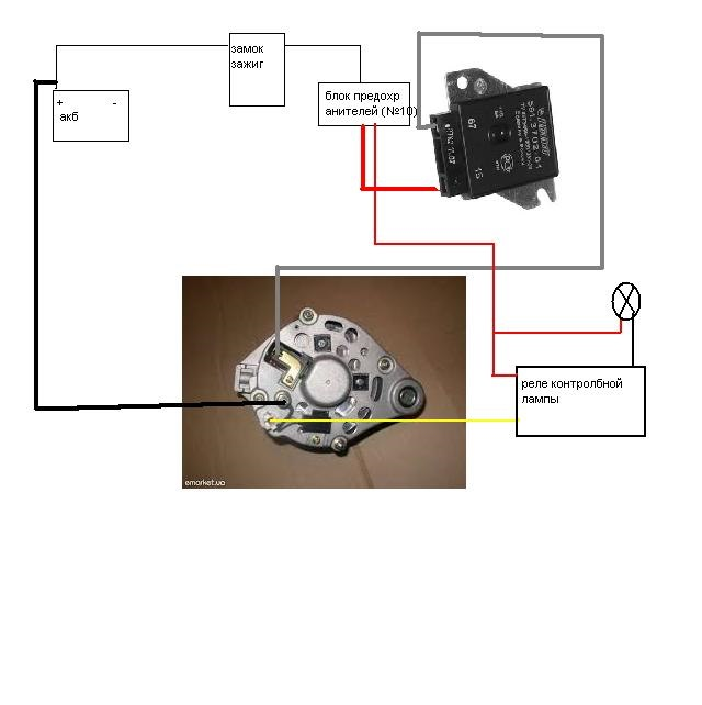 Схема подключения реле регулятор ваз 2101