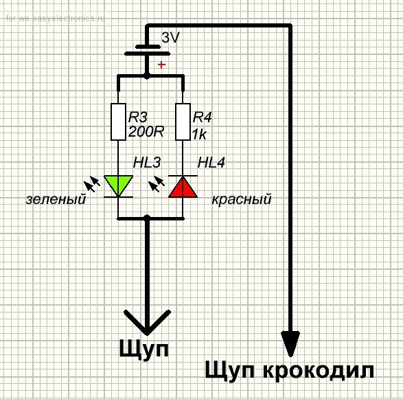 Схема пробника автоэлектрика своими руками