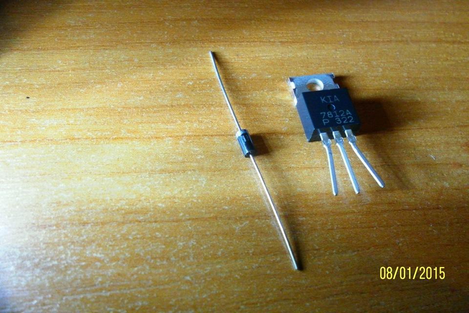 стабилизатор L7812CV на 12в.