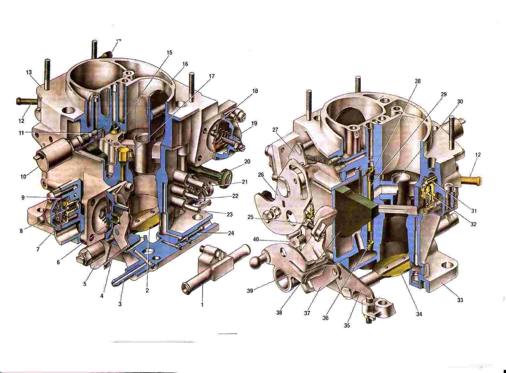 Схема карбюратора солекс 21083 фото 433