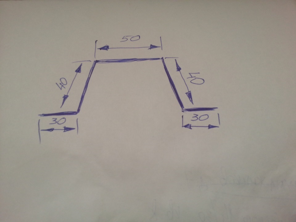 Схема кронштейна крепления