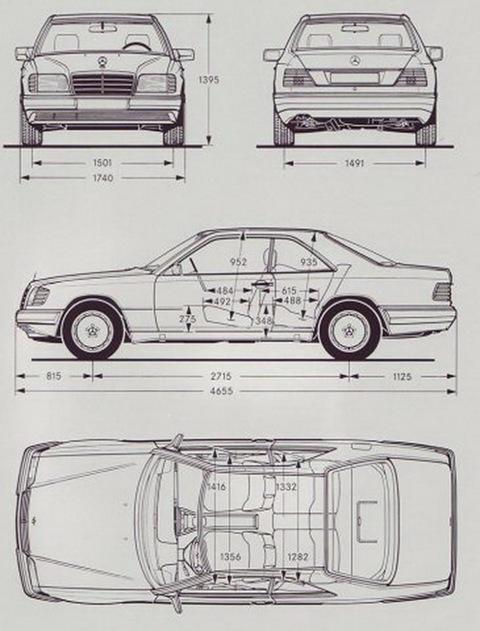 Mercedes 230е w124 схема