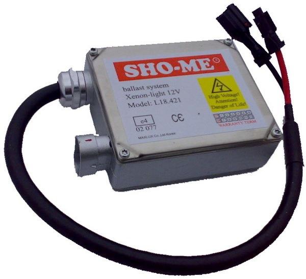 Блок розжига Sho-ME предназначен для ксеноновых ламп, которым для поджига и горения достаточно все.