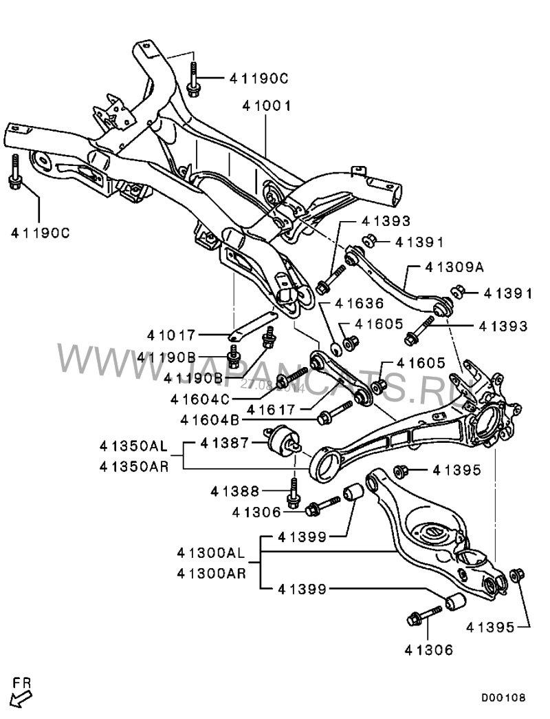 задняя подвеска митсубиси аутлендер 1