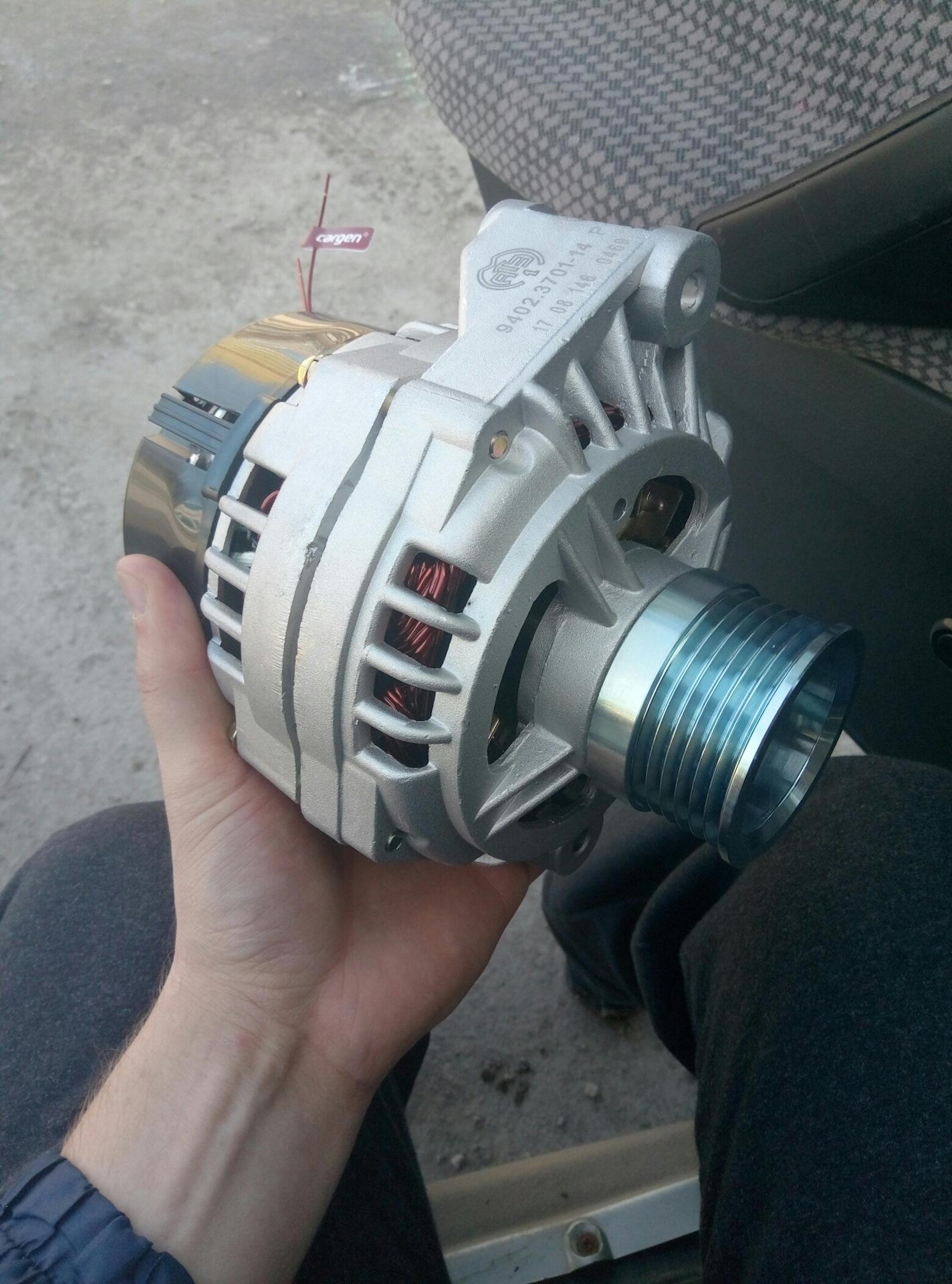 Приора нагрузки на генератор