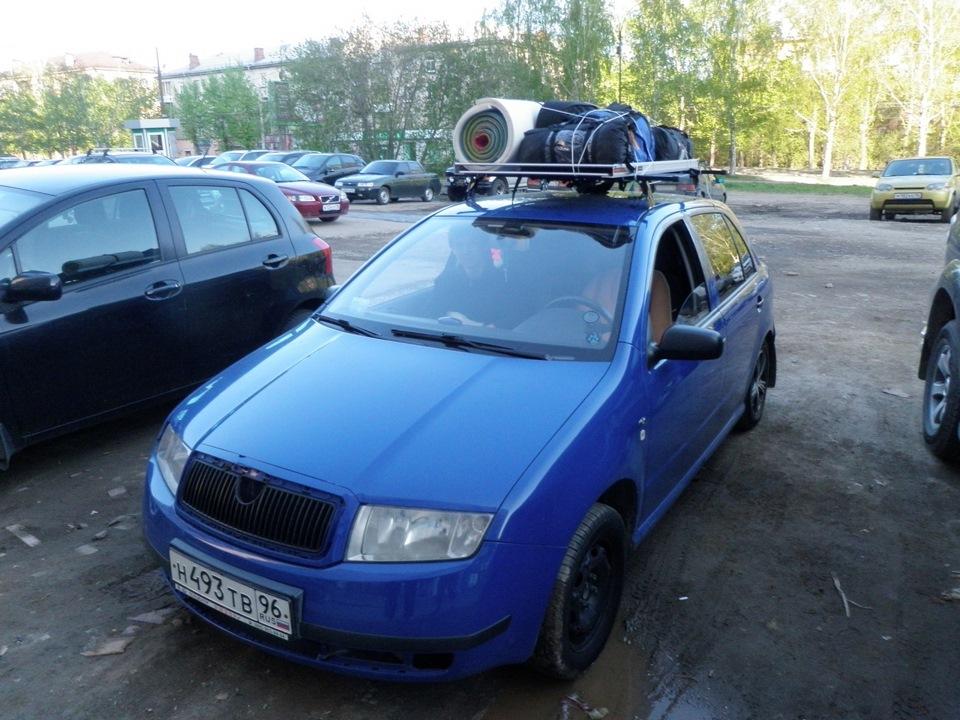 skoda fabia багажник на крышу