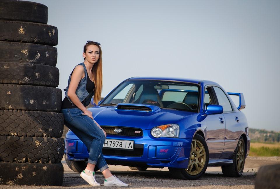 Красивые девушки и авто subaru фото
