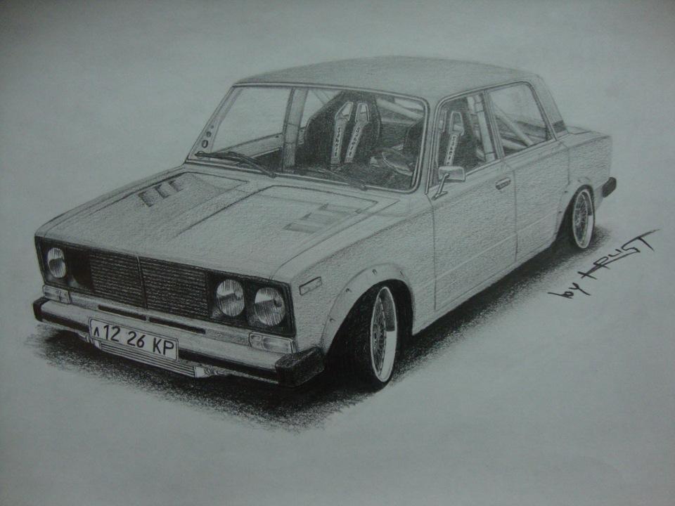 картинки рисовать машины ваз образом впервые истории