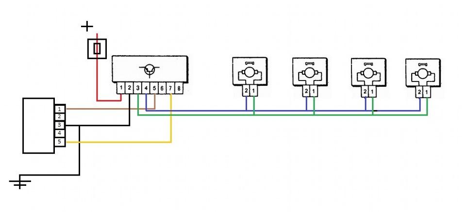 Схема центрального замка рено