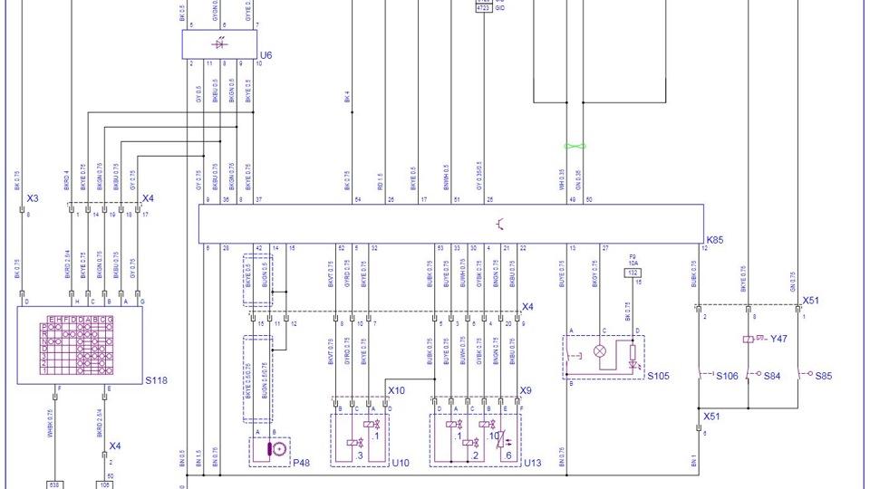 Электрическая схема 4AT