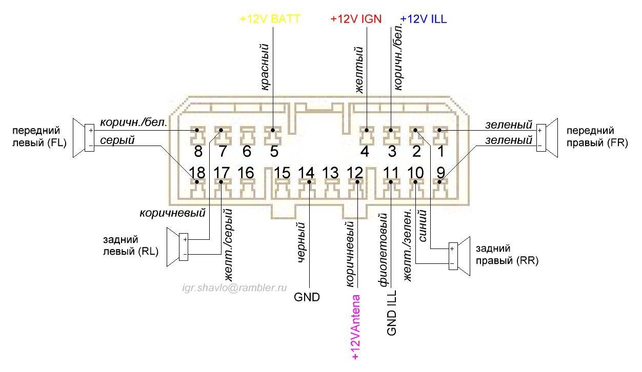 подключение автомагнитолы в chevrolet lanos проводами