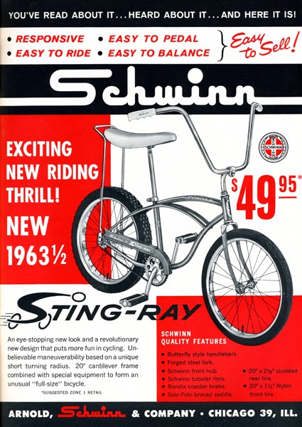 Image result for 1963 schwinn stingray ad