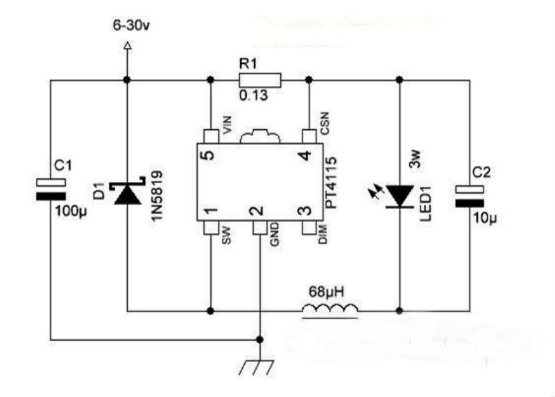 Схема драйвера для светодиода 3w 12v