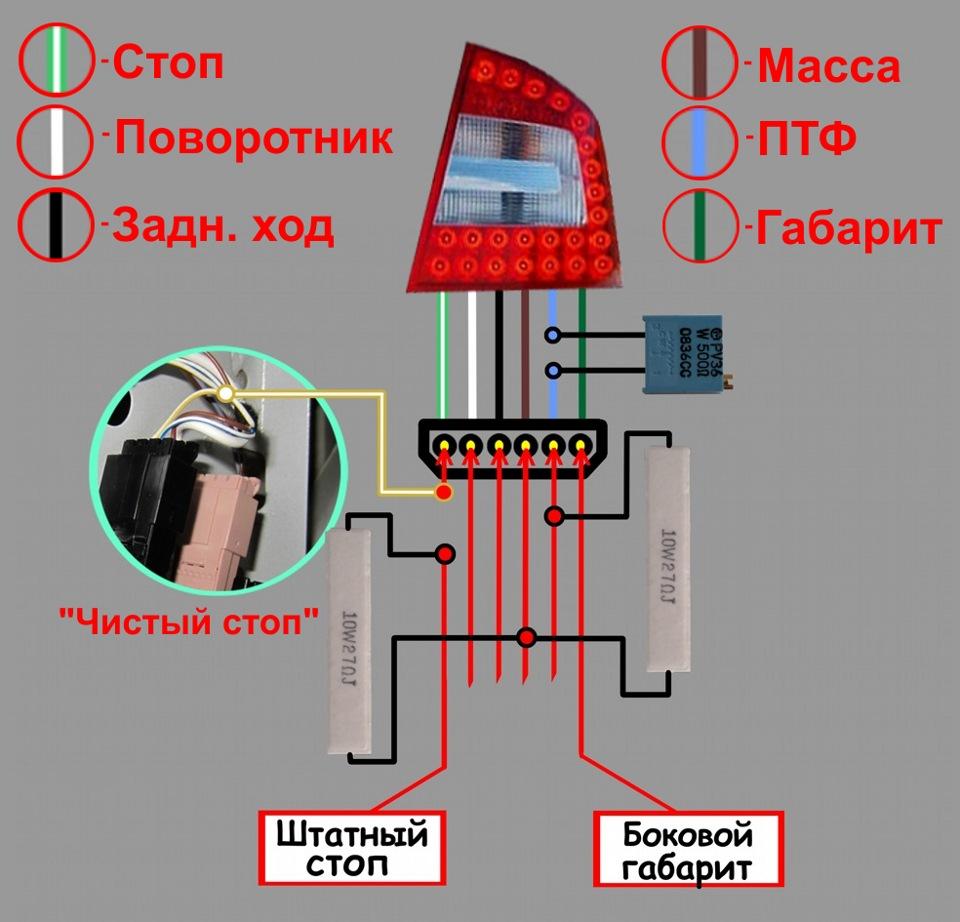 фары светодиодные схема uf,fhbn cnjg
