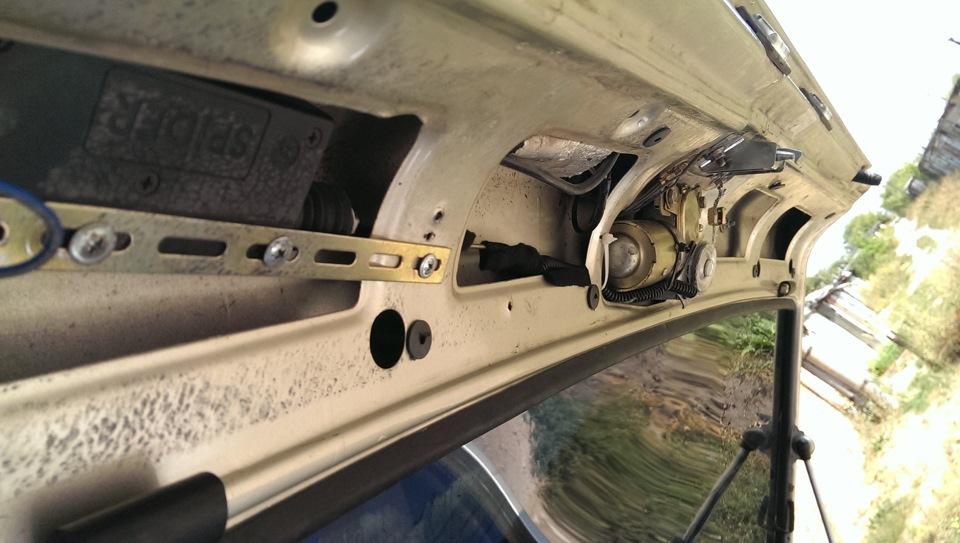 Как сделать электропривод замка багажника в ваз 66
