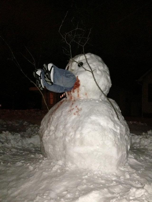 должна быть злой снеговик фото когда улице холодно