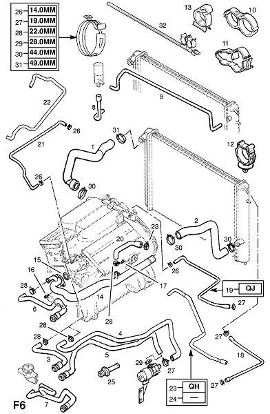 схема системы отопления опель омега в