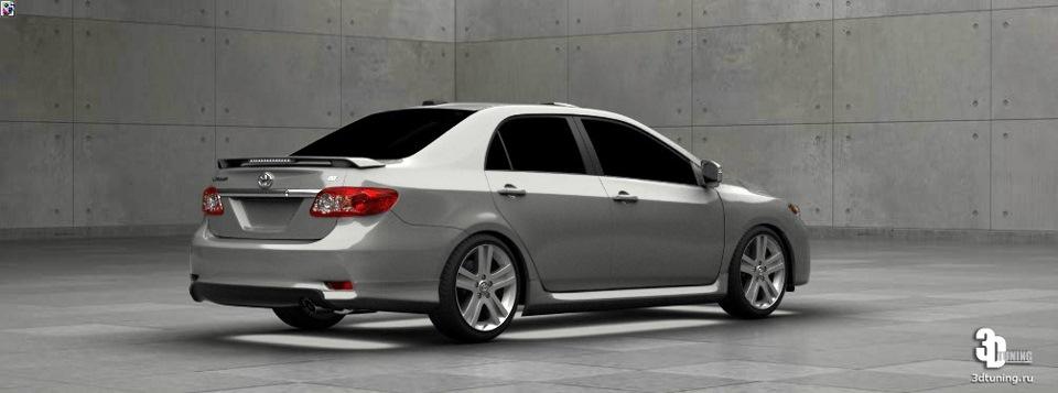Toyota corolla › бортжурнал › 3d tuning