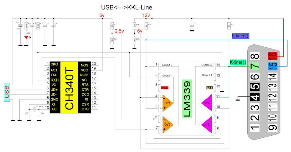 Usb vag com схема 680