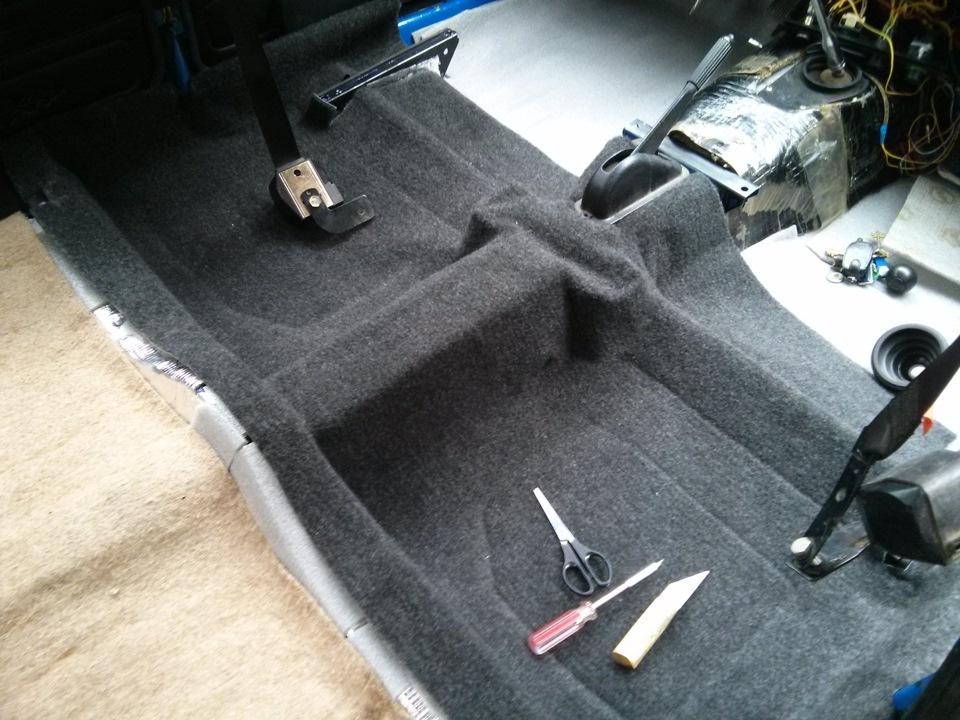 Замена ковролина в авто своими руками 1