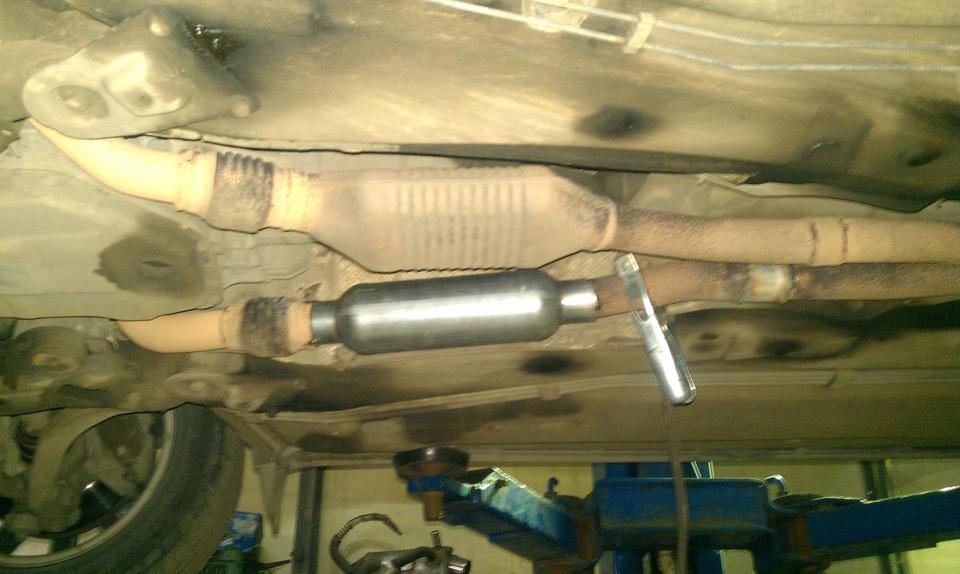 замена катализатора на пламегаситель для audi a6 c5 3.0 quattro