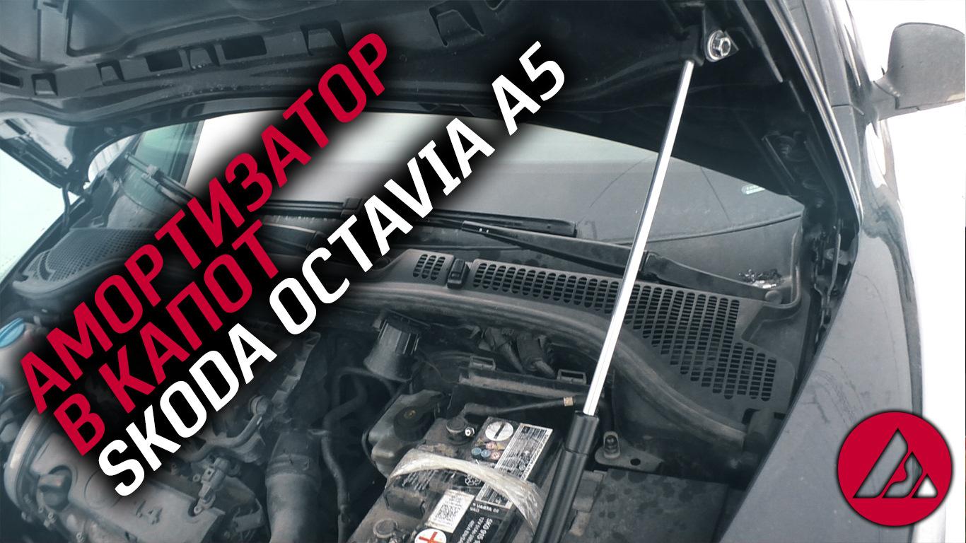 Амортизатор в капот skoda octavia a5, как это работает  ASP
