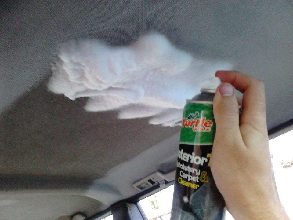 Чистка потолка автомобиля своими руками лучшее средство