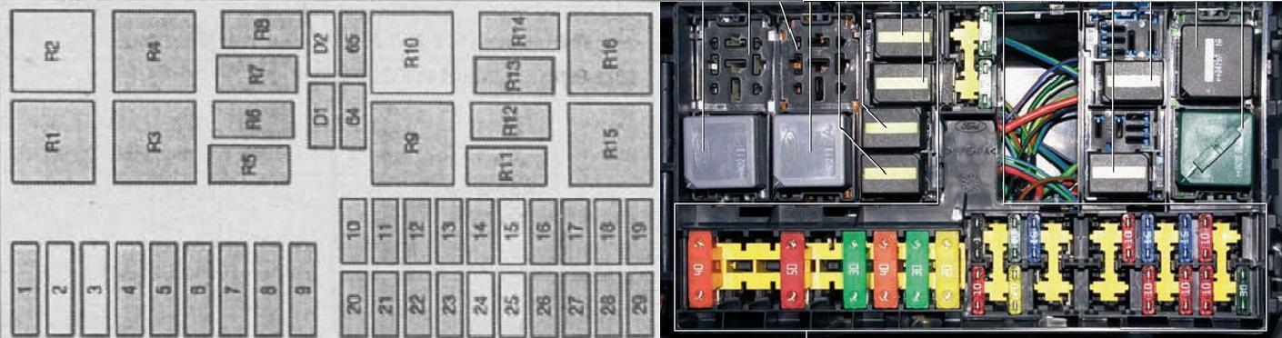 Схема реле форд фокус фото 862