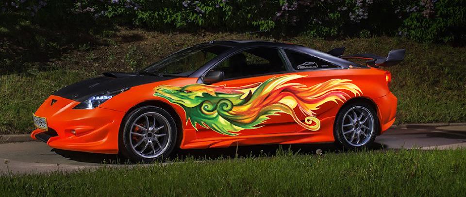 Toyota celica с аэрографией xxx как