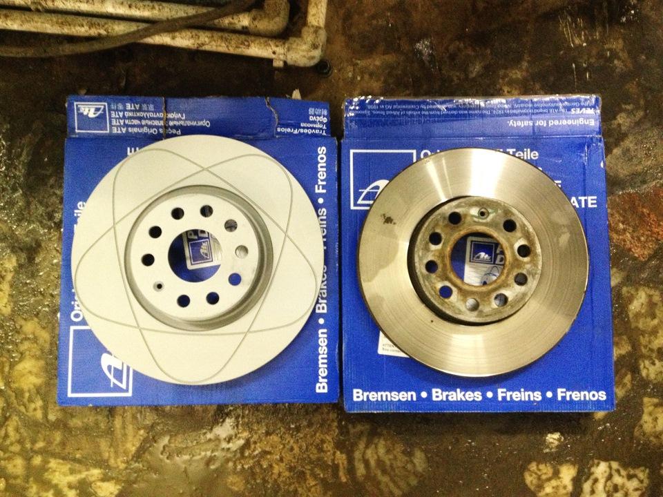 Тормоза 312 мм ATE Power Disc + накладки ATE Ceramic — Skoda Octavia, 1.8  л., 2012 года на DRIVE2