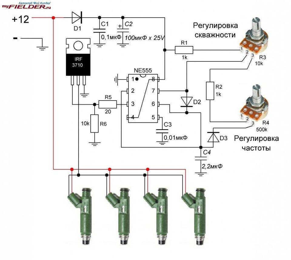 Схема генератора импульсов для чистки форсунок своими руками