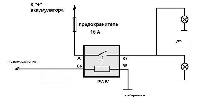 схема блока управления ДХО