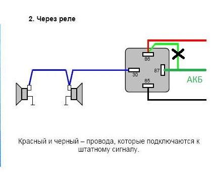 Схемка подключения реле