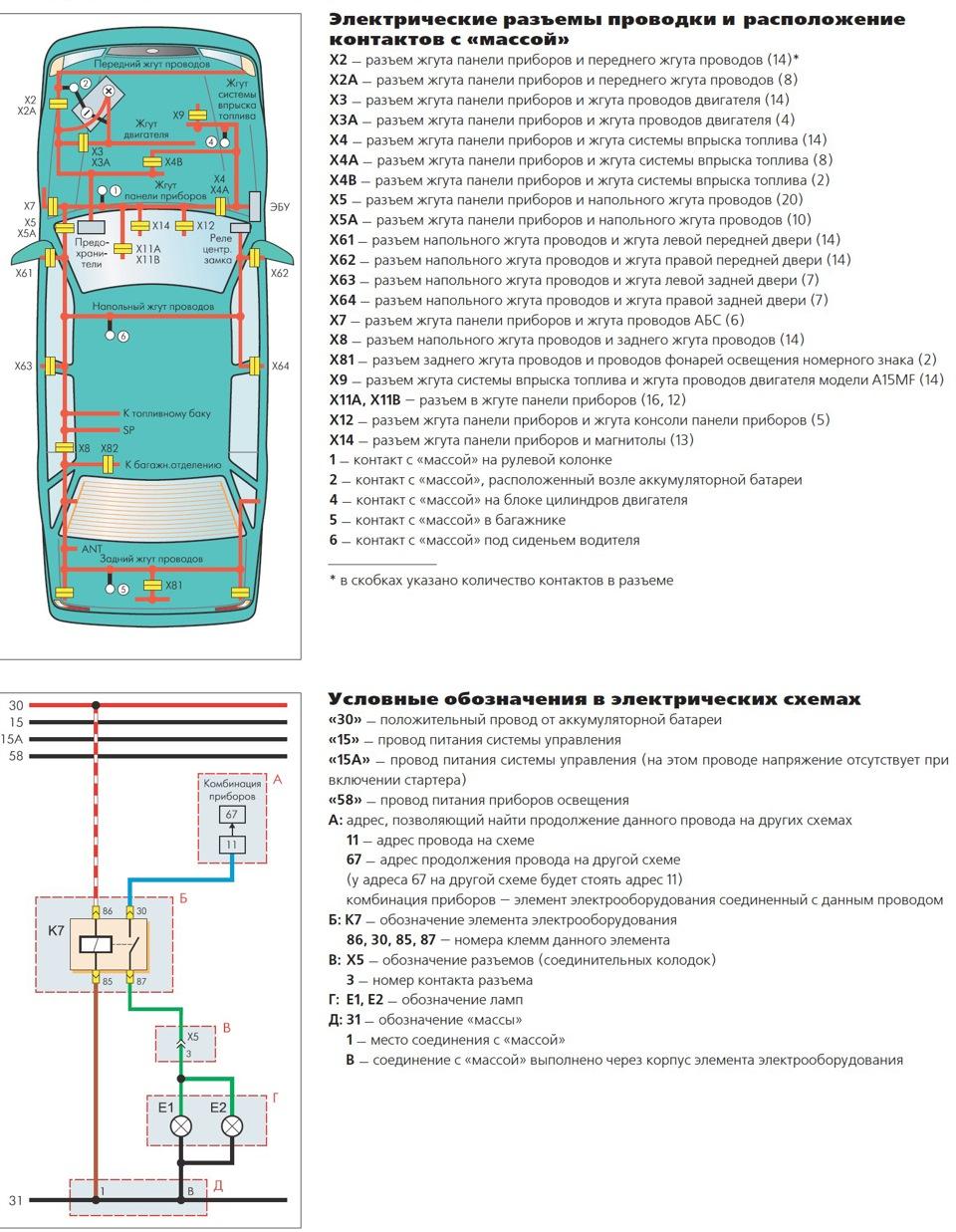 Схема подключения автомагнитолы daewoo