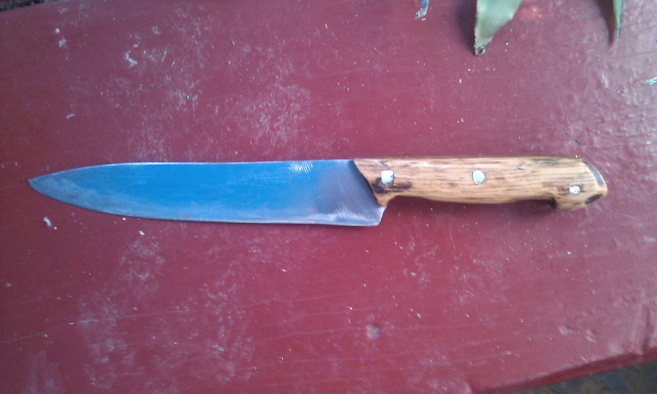 Как из пластика сделать ручку для ножа
