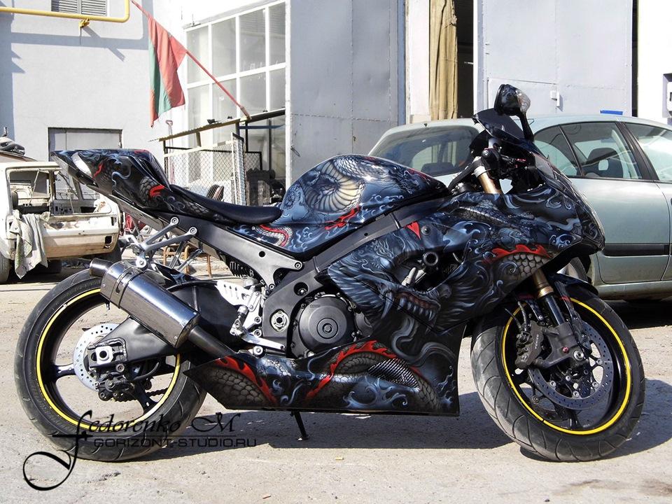 Аэрография мотоциклы картинки