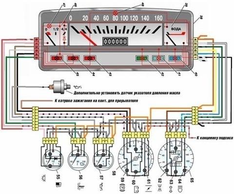схема подключения приборов